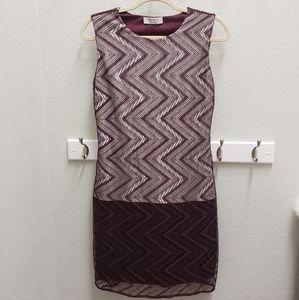 Bailey/44 Medium Dress Burgundy Lace Work Dress